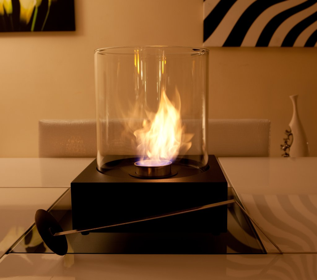 bio fuel burner fire glass black indoor real flames sph ebay. Black Bedroom Furniture Sets. Home Design Ideas