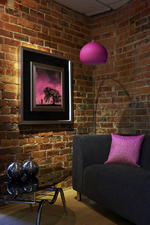View Item Retro Arco Pink Glass Standard / Floor Lamp LO RET PK