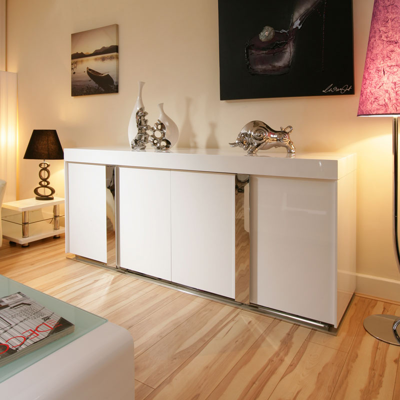 Modern Sideboard Cabinet Buffet in White High Gloss 2 0mtr 912M eBay