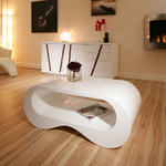 View Item Coffee Table White Gloss Stunning Designer AG Studios 377  
