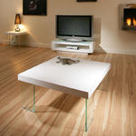 View Item Modern Beautiful Square Gloss White Coffee Table / Tables Glass Legs 00