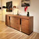 View Item Modern Large Walnut  Sideboard / Cabinet / Cupbaord / Buffet 2.0mt 912