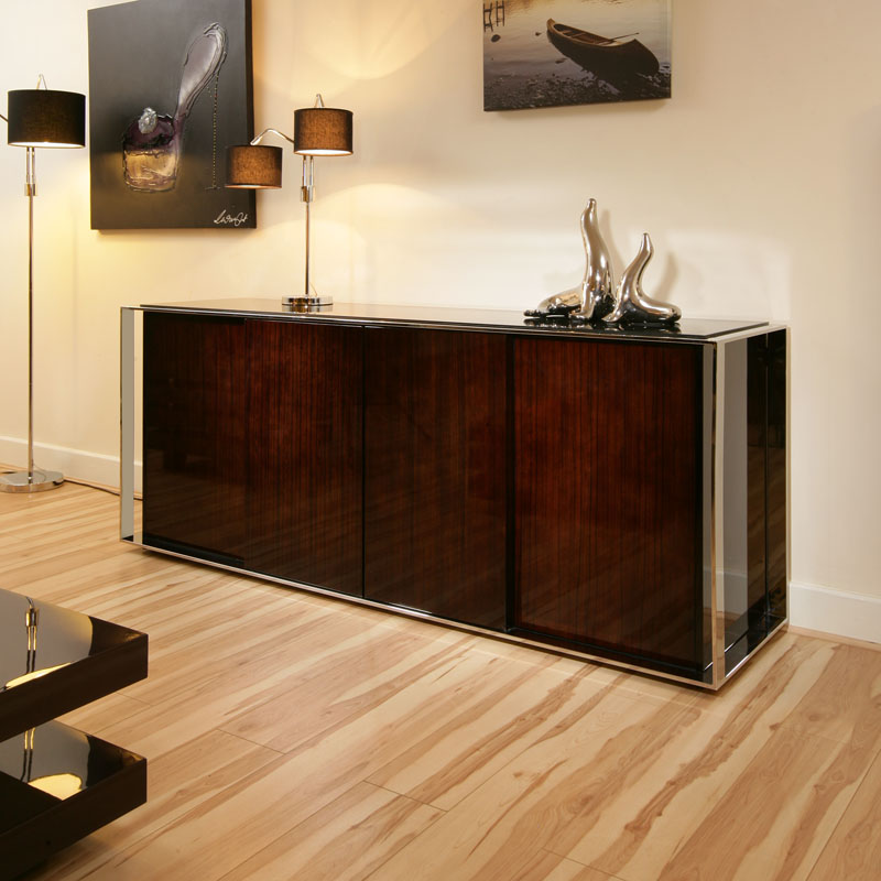 10 Deep Sideboard Buffet Table ~ Large high gloss deep cherry sideboard cabinet