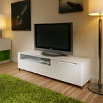 View Item Large TV/Television Stand / Cabinet / Cabinets / Unit White Gloss 1106
