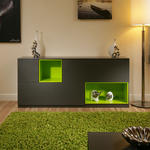 View Item Beautiful Dining Room Sideboard / Buffet Grey / Lime Green Modern New