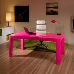 View Item Modern Designer Desk Work Station Shocking Pink Gloss 1.8Mtr Office