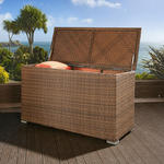 View Item Luxury Outdoor Garden Brown Rattan Storage Box / Cupboard / Chest