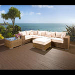 View Item Luxury Outdoor Garden 6 Seater Corner Sofa/Setee Group Brown Rattan 7