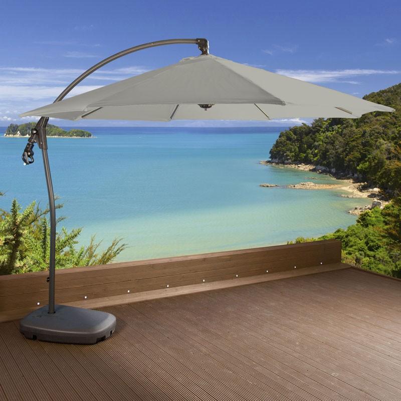 luxury garden grey cantilever parasol umbrella rattan 3m water filled ebay. Black Bedroom Furniture Sets. Home Design Ideas