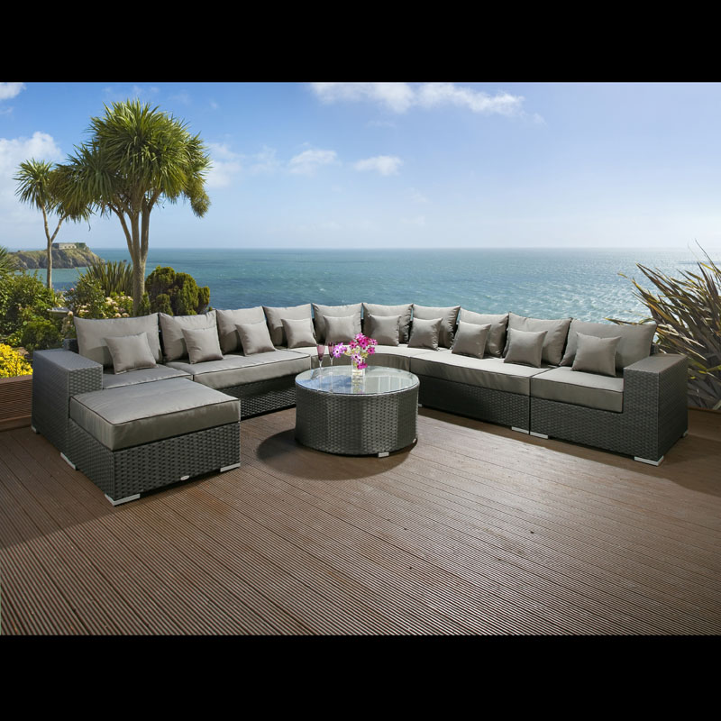 massive luxury outdoor garden 10 seater corner sofa group