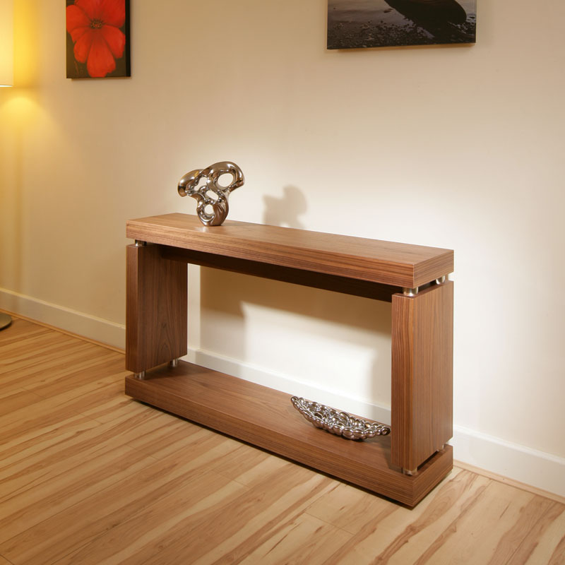 ... about Modern Designer Console / Hall / Occasional Table in Walnut 397X