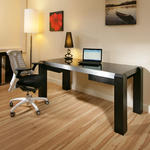 View Item Modern Designer Desk/Work Station Black Oak with Black Glass Top 1.8Mt