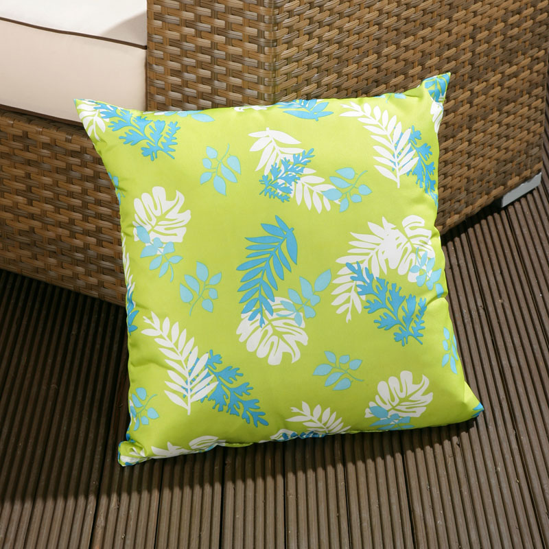 Large Luxury Outdoor Garden Scatter Cushion In Green For Sofa Armchair EBay