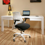 View Item Modern Luxury Office Chair White Frame Executive Ergonomic Modern FL3X