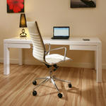 View Item Modern Luxury Office Chair Ivory Leather Executive Ergonomic Modern R1