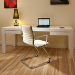 View Item Cantilever/Visitor/Boardroom Office Chair Ivory Leather Ergonomic R1