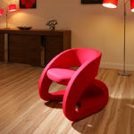 View Item Amazing Modern Red Fabric Armchair / Armchairs Chair / Chairs New