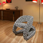 View Item Modern Black / White Pattern Fabric Armchair / Armchairs Chair / Chair