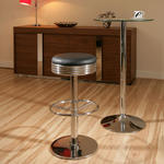 View Item American 50's Diner Style Bar Stools/Stool Black / Chrome High Quality