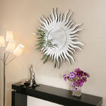 View Item Large Modern Round Designer wall mounted Feature Mirror Sun Ray