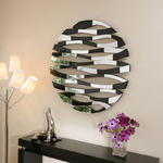 View Item Large Modern Round Designer wall mounted Feature Mirror Earth World