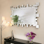 View Item Large Modern Rectangular Designer wall mounted Feature Mirror Linea