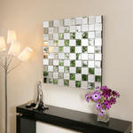 View Item Large Modern Square Designer wall mounted Feature Mirror Tiles  MH901