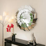 View Item Large Modern Round Designer wall mounted Feature Mirror Jagged Edge