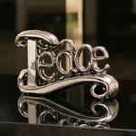 View Item Elegant chrome Peace Ornament Gift Birthday / Christmas Present New