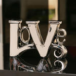 View Item Elegant chrome Love Ornament Gift Birthday / Christmas Present New