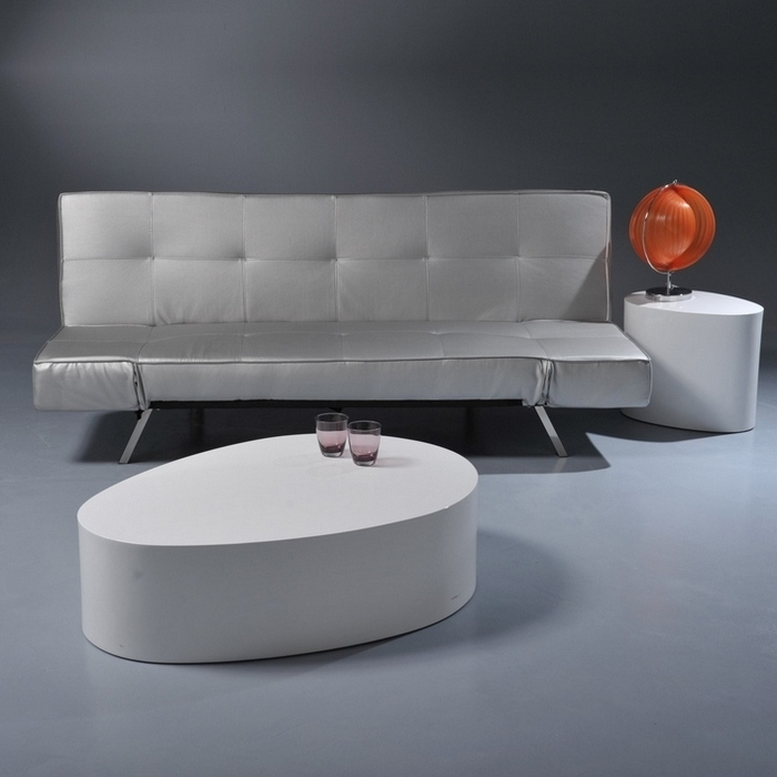 Modern Oval White High Gloss Glossy Lacquer Coffee Table New 30 Ebay