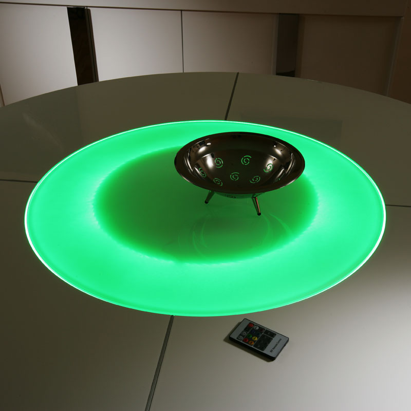 Large Round White Gloss Dining Table Glass lazy susan LED  : 850LIGHTLR2 from www.ebay.co.uk size 800 x 800 jpeg 75kB