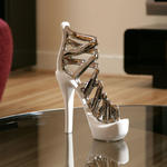 View Item Stiletto White / chrome Ornament Gift Chirstmas Birthday Present 71