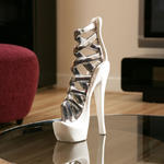View Item Stiletto White / chrome Ornament Gift Chirstmas Birthday Present 72