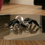 View Item Christmas/Birthday Present Ornament Spider Tarantula Chrome / Black 74