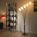View Item Modern Floor / Standard Lamp/Light/Lighting White Glass Shades Tulip