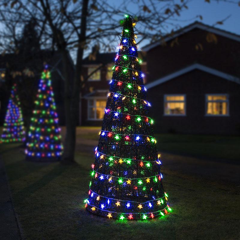 Luxury Indoor Outdoor Rattan Christmas Xmas Tree Cone