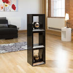 View Item Modern Black Gloss Large Storage Unit/Cupboard/Cube/Cabinet/Rack 2014M