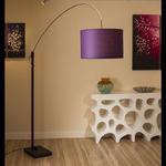 View Item Extra Large Round Extending Modern Purple Standard / Floor Lamp Light
