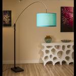 View Item Large Extending Modern Turquoise / Blue Standard / Floor Lamp Light