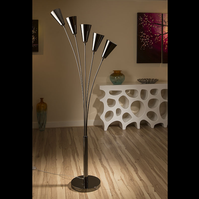 Modern Floor / Standard Lamp/Light/Lighting Black Chrome ...
