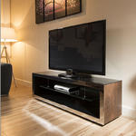 View Item TV Stand / Cabinet/Unit Large 1.5mtr Elm Wood / Stainless Modern 182F
