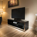 View Item TV Stand / Cabinet/Unit Large 1.5mtr Black Oak / Stainless Modern 182F