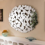 View Item Beautiful Wall Mirror/ Art / Picture Silver Prestige Pebble Large New