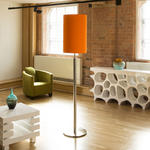 View Item Modern Designer Standard Floor Lamp/Lamps Large Fire Orange Shade New