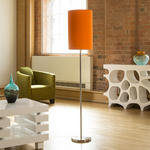 View Item Modern Designer Standard Floor Lamp/Lamps Large Fire Orange Shade 852