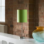 View Item Green Fabric Shade Table / Desk Lamp / Light Bedside Modern New 857