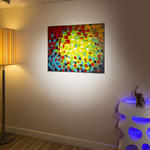 View Item Abstract Large Oil Painting/Art/Picture Mounted Muiti Colour Quality