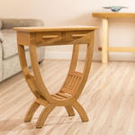 View Item Beautiful Solid White Oak Wooden Hall / Console / Occasional Table new