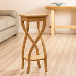 View Item Beautiful Solid Sungkai White Teak Wood Plantstand / Occasional Table